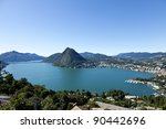 Lake Lugano  Panoramic View...