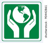 earth care sign vector | Shutterstock .eps vector #90442861