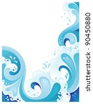 abstract sea wavy background. ... | Shutterstock .eps vector #90450880
