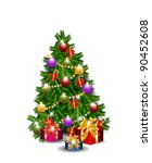 christmas tree vector isolated | Shutterstock .eps vector #90452608
