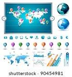 premium infographics master... | Shutterstock . vector #90454981