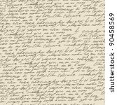 abstract handwriting on old...   Shutterstock .eps vector #90458569