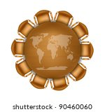 round meeting table with world... | Shutterstock .eps vector #90460060