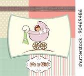 girl announcement card
