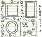 Frames And Borders Hand Drawn...