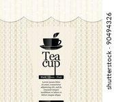 tea time. restaurant menu design | Shutterstock .eps vector #90494326