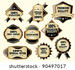 premium quality labels | Shutterstock .eps vector #90497017