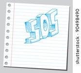 sos symbol | Shutterstock .eps vector #90498490