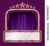 vector purple velvet stage with ...   Shutterstock .eps vector #90498907