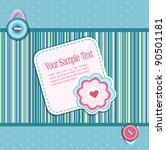 background  with a button  card ... | Shutterstock . vector #90501181