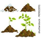 growing plants | Shutterstock .eps vector #90502351