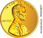 Vector American Money  One Cent ...