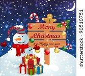 christmas vintage background...   Shutterstock .eps vector #90510751