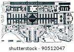 plan of the vienna exhibition ... | Shutterstock . vector #90512047