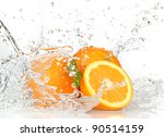 Orange Fruits And Splashing...
