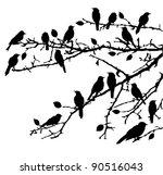 Vector Birds Silhouettes...