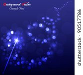 magic wand background vector...