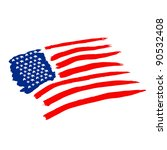 american vector flag... | Shutterstock .eps vector #90532408