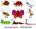 funny insect | Shutterstock . vector #90536245