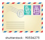 Christmas Envelope With Postag...