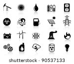 black energy icon | Shutterstock .eps vector #90537133