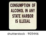 alcohol sign isolated on a... | Shutterstock . vector #905446