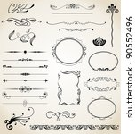 vector set design elements and... | Shutterstock .eps vector #90552496