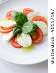 classic caprese salad | Shutterstock . vector #90557167