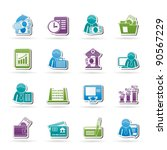 bank and finance icons   vector ... | Shutterstock .eps vector #90567229