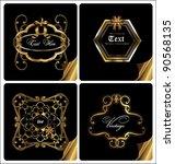 gold elegance card design | Shutterstock .eps vector #90568135