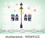 christmas background with...   Shutterstock .eps vector #90569122
