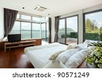 panoramic view of nice cozy ... | Shutterstock . vector #90571249