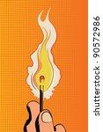 pop art vector illustration... | Shutterstock .eps vector #90572986