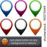 set of glossy buttons. eps10... | Shutterstock .eps vector #90575449