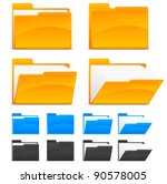 folder icons  isolated on white ... | Shutterstock .eps vector #90578005