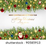 christmas background vector... | Shutterstock .eps vector #90585913