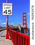 Speed Limit Sign At Golden Gate ...