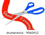 scissors cutting grand opening... | Shutterstock .eps vector #9060412