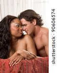 interracial lovers   sensual... | Shutterstock . vector #90606574
