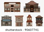 vector western buildings ... | Shutterstock .eps vector #90607741
