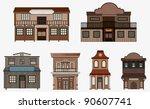 Vector Western Buildings ...