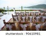 floral arrangement at a wedding ...   Shutterstock . vector #90610981