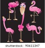flamingos cartoons. raster... | Shutterstock . vector #90611347
