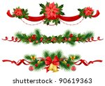 christmas festive decoration... | Shutterstock .eps vector #90619363