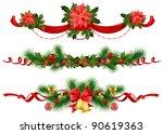 christmas festive decoration... | Shutterstock .eps vector #90619363