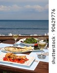 Lunch Table For Two By The Sea