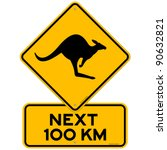 kangaroo sign | Shutterstock .eps vector #90632821