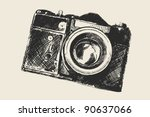 old school photography | Shutterstock .eps vector #90637066