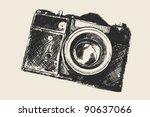 old school photography | Shutterstock .eps vector #90637066