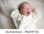 Picture Of A Newborn Baby Yawns